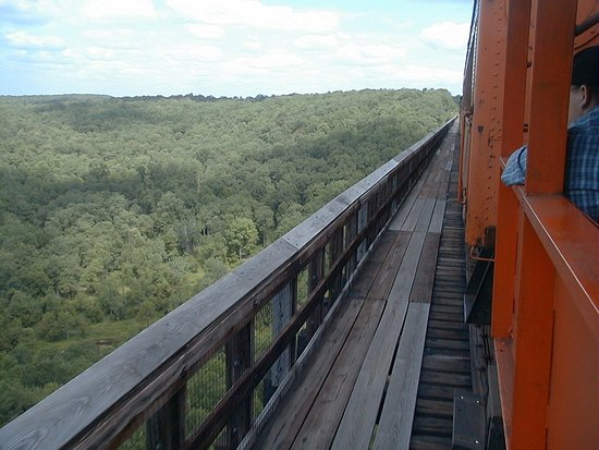 Mount Jewett, Pennsylvanie : View from the steam train in Aug., 1999