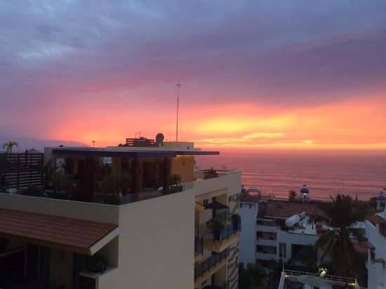 Boana Torre Malibu : View on balcony from room 403 (sunset)