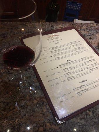 Delicato Family Vineyards Tasting Room: Menu