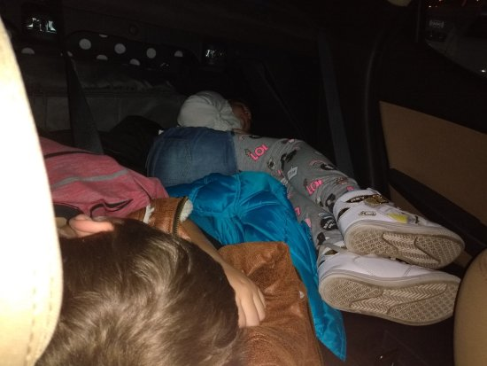 Quality Inn Orlando Airport: my view of my kids sleeping in the car