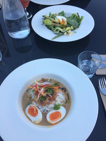 The Views Vegetarian Restaurant Gluten Free Nz Asian Laksa And Vegie Salads