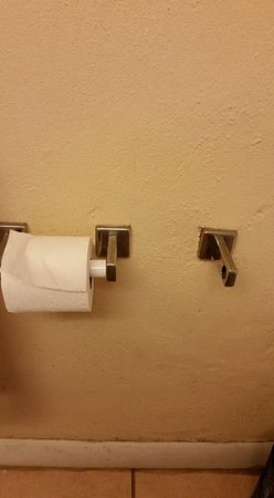 Travelodge Virginia Beach: Missing toilet paper roll and moldy wall trim