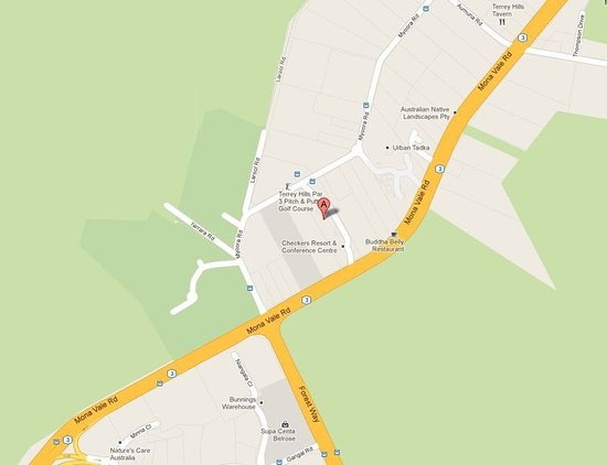 Checkers  Resort & Conference Centre : Map