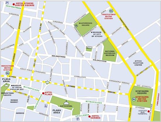 Plaka Hotel: Map