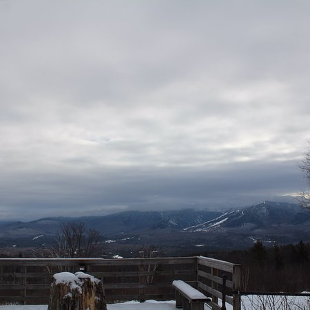 Sugar Hill, NH: Views of: The inn, surrounding mountains view, breakfast room and living room