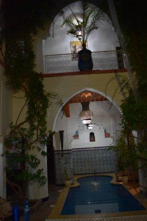 Riad El Sagaya: The central courtyard with pond
