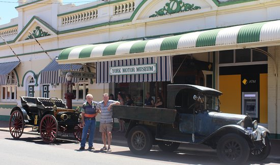 York, Australia: 1908 International with 1923 Dodge Brothers Truck and owners
