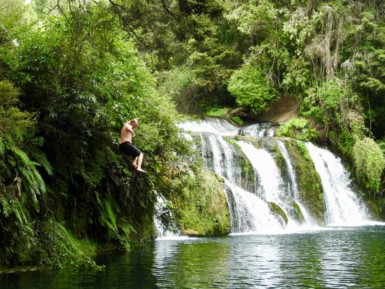 Maraetotara Falls: Nice and deep for swimming and jumping!