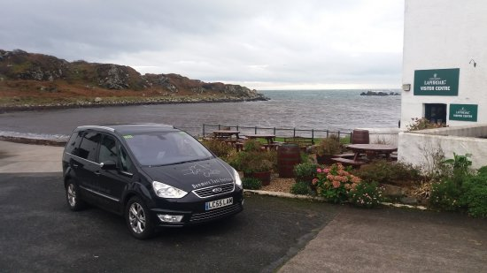 Islay, UK: Our 6 seat Galaxy Titanium X at Laphroaig