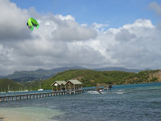 Coral Cove Cottages & Apartments : View of the pier and snorkeling area