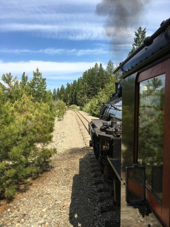 The Sumpter Valley Railroad - View from locomotive cab