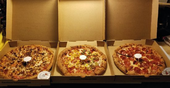 Mayfield, KY: Selection Of Pizzas