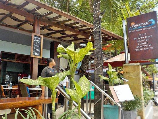 Zanzibar: esterno del ristorante
