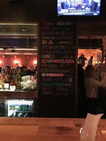 The Eagle Food and Beer Hall: beer list