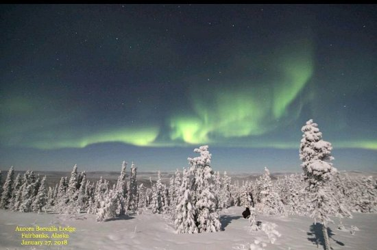 Aurora Borealis Lodge: Northern lights - 1/27/18