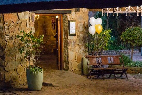 The Farm Inn: Entrance to Okavango venue