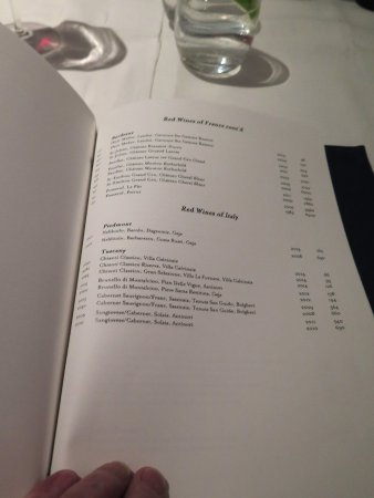 Greater London, UK: Estiatorio Milos - London - Wine List