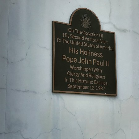 St Louis Cathedral Plaque