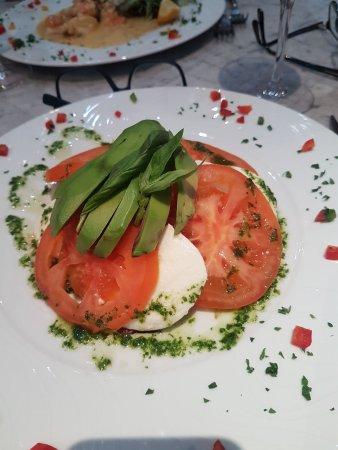 Tomato & mozzarella salad.