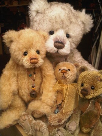 Charlie Bears at Urchins Bear Shop Tintagel
