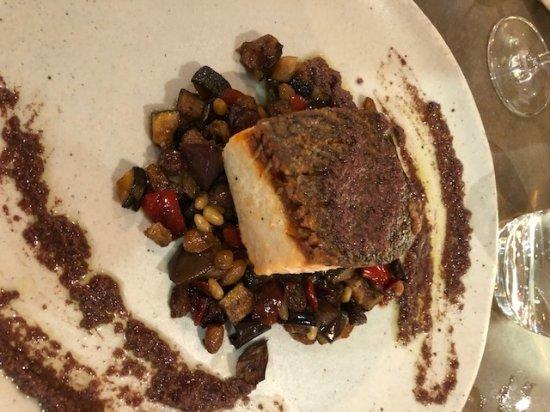 Willoughby, Australia: Crispy Skin Salmon with Caponata and Black Olive Tapenade