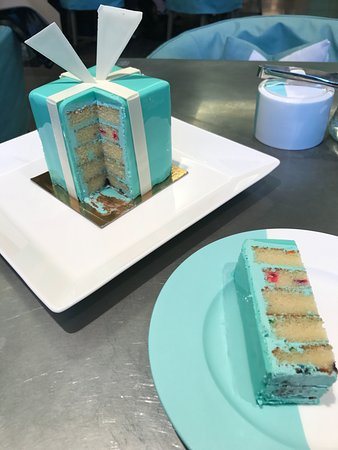 Celebration Cake Picture Of The Blue Box Cafe New York