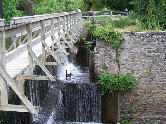 Lumberville, PA: One of many canal side walking bridges featuring the locks.