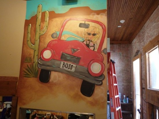 Sabinal, เท็กซัส: San Angelo artist Meagan Smith painted our wall mural!