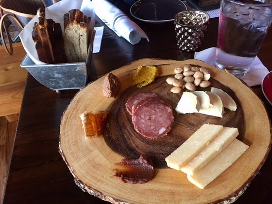 Knoxville, TN: Meat and cheese board with fresh bread from Old City Wine Bar