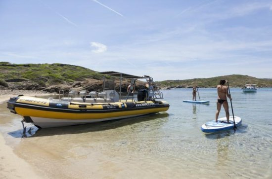 Speedboat with SUP and Snorkel Experience in Menorca