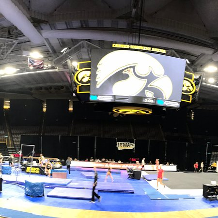 Iowa City, Айова: Carver Hawkeye Arena, January 2018