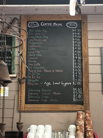 ebcfb0324b85 Coffee Menu - Picture of Jarrahdale Cafe and General Store ...
