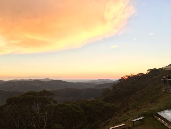 Mount Hotham, Australia: looking south from the balcony of the General