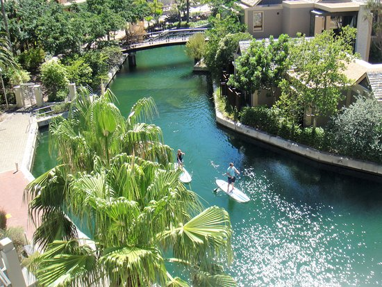 Lawhill Luxury Apartments: View of the canal from our balcony