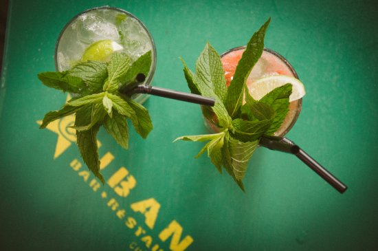 Fresh tropical cocktails