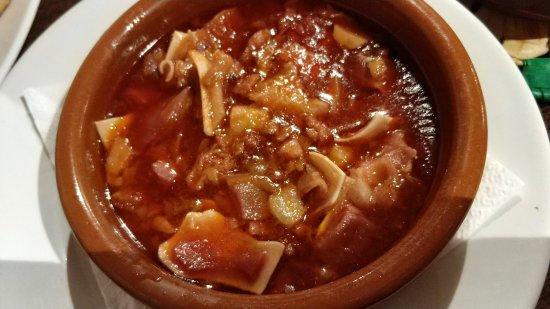 Calzada de Calatrava, España: Oreja en salsa
