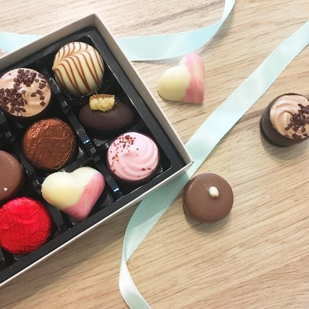 Lochgilphead, UK: A box of our luxury handmade chocolates.