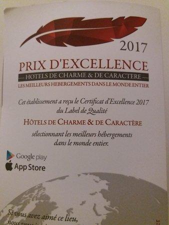 Lauberge hotel prix dexcellence pour hôtels de charme et de caractère
