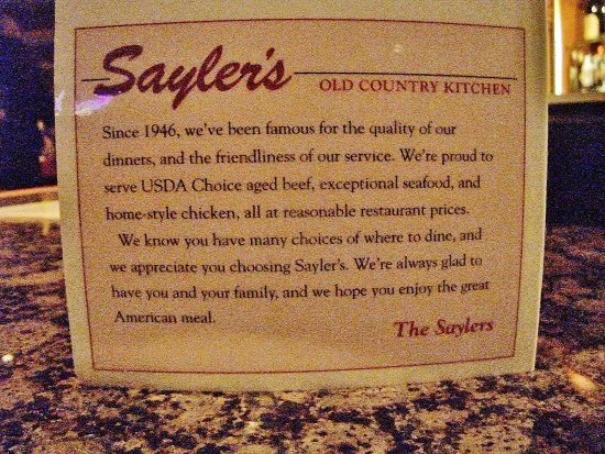 Saylers Old Country Kitchen Portland Or