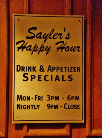 Sayleru0027s Old Country Kitchen: Salyeru0027s Happy Hour Times