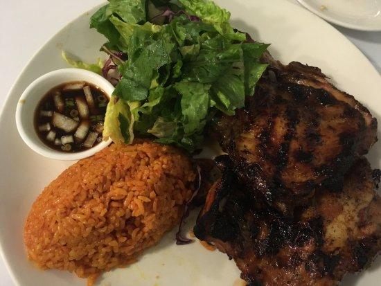 PROA Restaurant Guam: Chicken hibachi set.