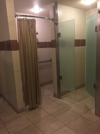 Spa showers look like a gym locker room they were not being