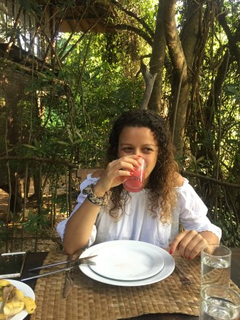Galkadawala Forest Lodge : Breakfast under the trees