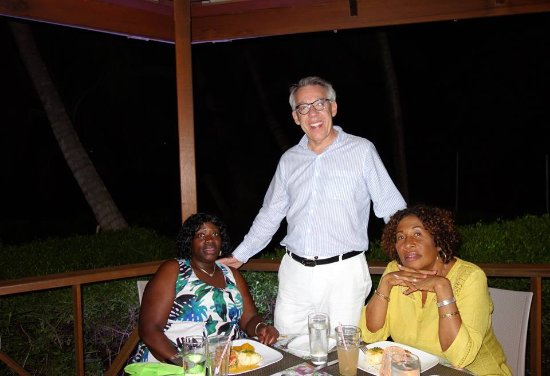 Saint David Parish, Grenada: Entertaining a guest in the pavilion late at night