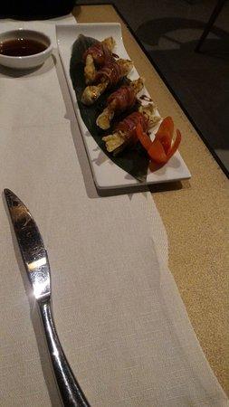 Cabiate, Италия: Fiore di zucca fritto con tonno