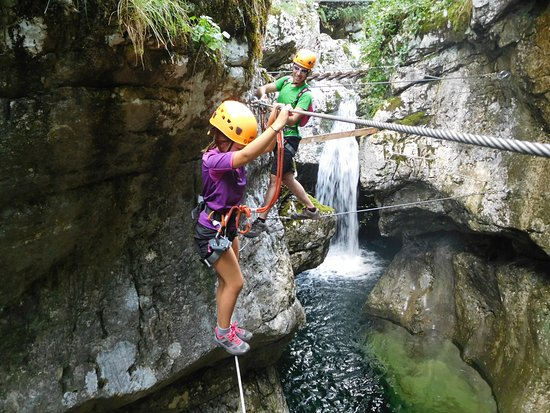 Bovec, Eslovenia: In smal gorge
