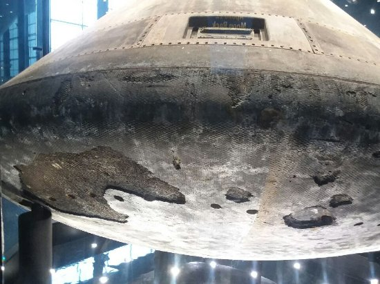 U.S. Space and Rocket Center: See where parts of the Command Module's heat shield came off