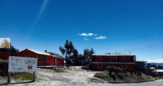Quilotoa, Équateur : Bienvenidos a Hostal y Restaurant Chozita
