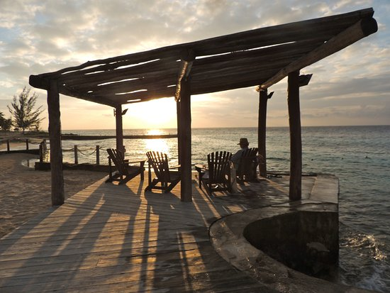 Playa Azul Golf, Scuba, Spa: The best spot at Playa Azul to take in the sunset.
