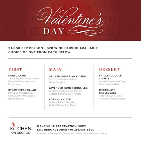 Don T Miss Our 2018 Valentine S Day Dinner Menu Picture Of Kitchen